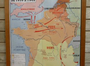 French school map - WW2 side 1