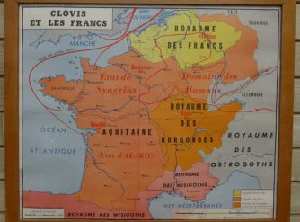 French school map - Clovis