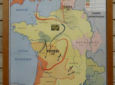 French school map - 100yr war