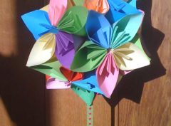 Kusudama flower ball pink