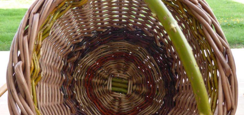 Inside a basket
