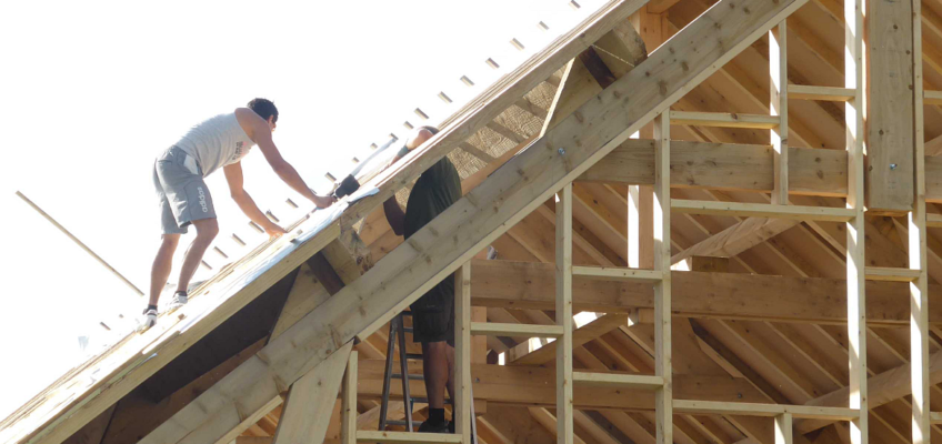 Work on roof