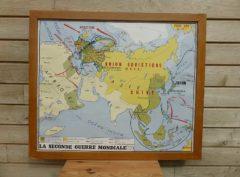 French school map - WW2 battle sites