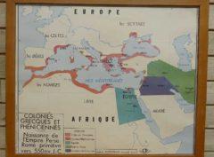 French school map - Greek+ empire