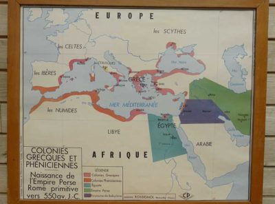 French school map - Greek+ empire
