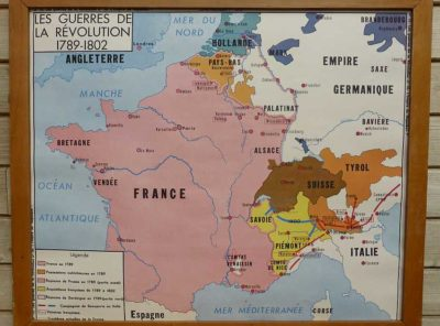 French school map - Revolution 1789