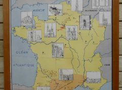 French school map - Gothic France
