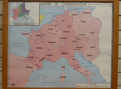 French school map - Charlemagne