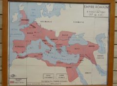 French school map - Roman Empire
