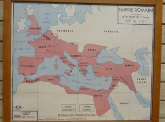 French school map - Roman Empire