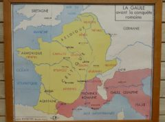 French school map - Gaule