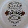 P Bocuse pair of plates underside