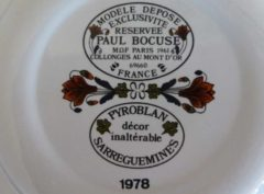 P Bocuse pair of plates underside