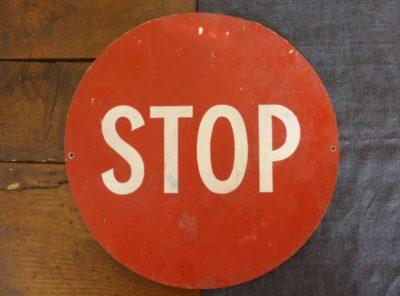 vintage stop sign