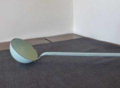 vintage blue ladle