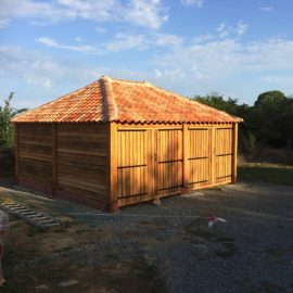 double oak garage finished