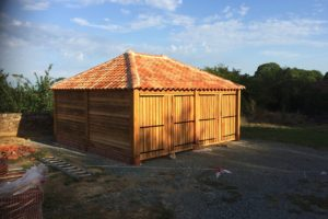 double oak garage finished