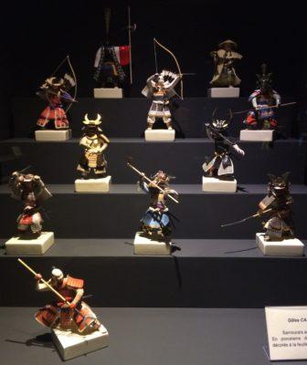 miniature porcelaine samurai