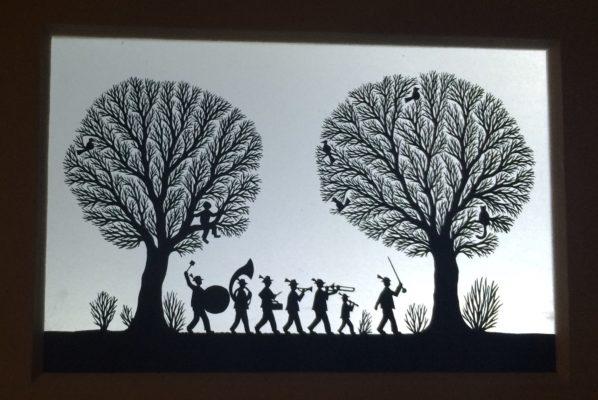 mini paper cutout